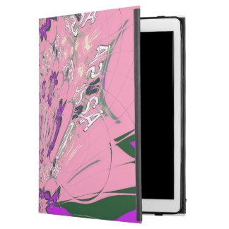 Cooles rosa lila reizendes Musterentwurfsmonogramm