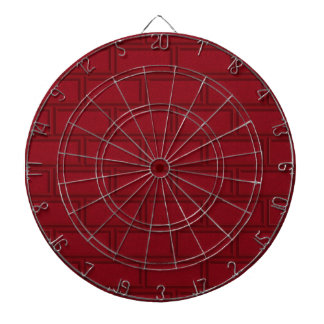 Cooles rotes Cartoon-Ziegelstein-Wand-Muster Dartscheibe