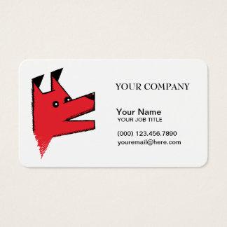 Cooles rotes Origami Hundegeschäft Visitenkarte