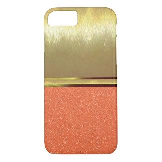 Cooles Schein-Muster-Goldbeschaffenheit iPhone 7 iPhone 8/7 Hülle