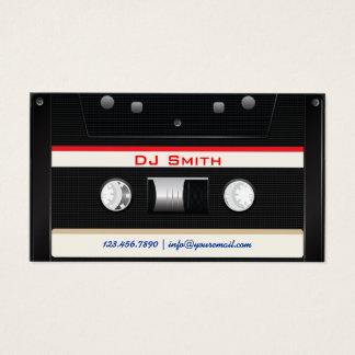 Cooles schwarzes Kassetten-Band DJ Visitenkarte
