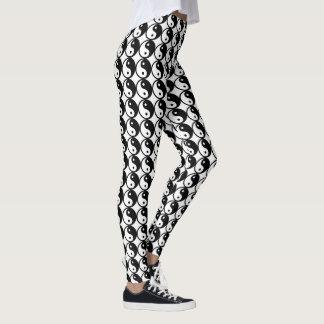 Cooles schwarzes u. weißes Yin Yang Symbol-Muster Leggings