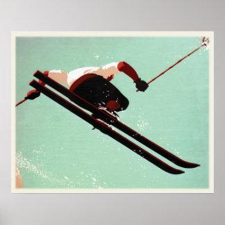 Cooles Ski-Gammler-Plakat Poster