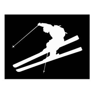 Cooles Skifahren Postkarten
