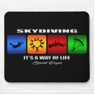 Cooles Skydiving ist es eine Lebensart Mousepads