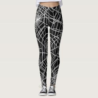 Cooles Spinnen-Netz-Muster Leggings