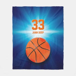 Cooles Sport-Geschenk des Basketball-Spieler-| Fleecedecke