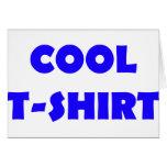 cooles T - Shirtblau Grußkarte