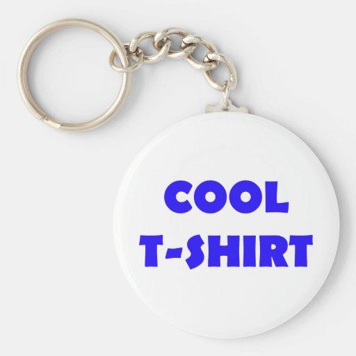 cooles T - Shirtblau Standard Runder Schlüsselanhänger