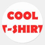 cooles T - Shirtrot Runder Aufkleber