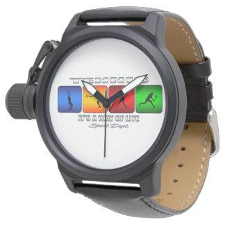 Cooles Tennis ist es eine Lebensart (weiblich) Armbanduhr