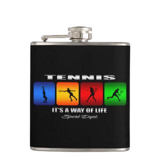 Cooles Tennis ist es eine Lebensart (weiblich) Flachmann