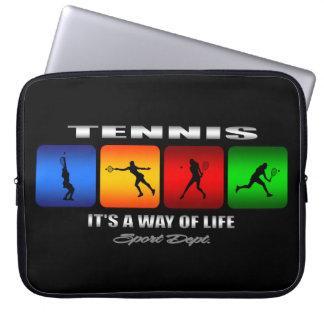 Cooles Tennis ist es eine Lebensart (weiblich) Laptopschutzhülle