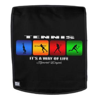 Cooles Tennis ist es eine Lebensart (weiblich) Rucksack