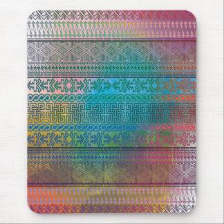 Cooles trendy aztekisches geometrisches Muster bun Mousepad