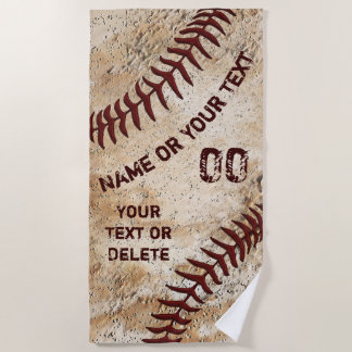 Cooles Vintages Baseball-Badetuch, PERSONALISIERT Strandtuch