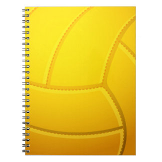 Cooles Volleyball-(gelbes) Notizbuch Spiral Notizblock