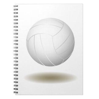 Cooles Volleyball-(weißes) Notizbuch Notizblock
