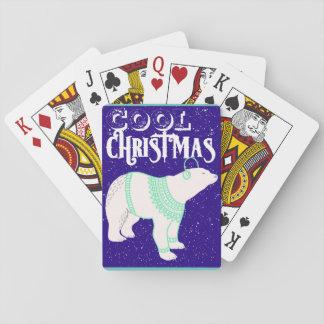Cooles Weihnachtspolarer Spielkarten