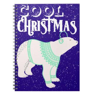 Cooles Weihnachtspolarer Spiral Notizblock