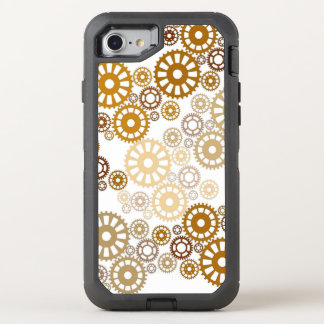 Cooles weißes Steampunk Muster OtterBox Defender iPhone 8/7 Hülle