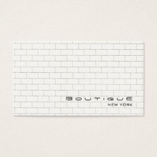 Cooles weißes Untergrundbahn-Fliesen-Muster Visitenkarten