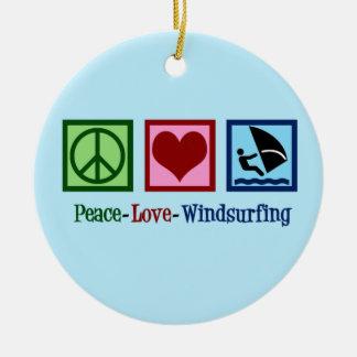 Cooles Windsurfing Keramik Ornament