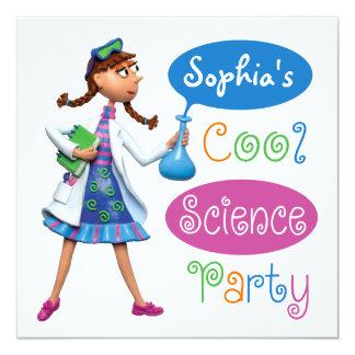 Cooles Wissenschafts-Geburtstags-Party für Mädchen Karte