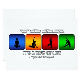 Cooles Yoga ist es eine Lebensart Karte