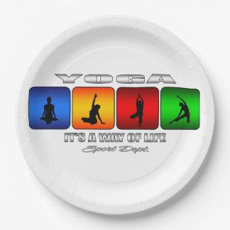 Cooles Yoga ist es eine Lebensart Pappteller