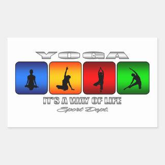 Cooles Yoga ist es eine Lebensart Rechteckiger Aufkleber