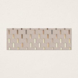 Cooles Zen-Muster-stilvoller moderner Minimalist Mini-Visitenkarten