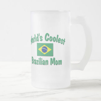Coolste brasilianische Mamma Mattglas Bierglas