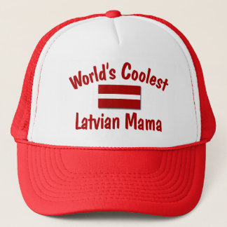 Coolste lettische Mutter Truckerkappe