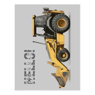 Coolster Bau-Bagger-Gräber Postkarte