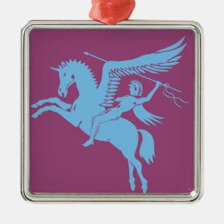 Coolstes Pegasus-Geschöpf Sie Liebe Silbernes Ornament