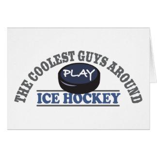 Coolstes Typ-Spiel-Eis-Hockey Grußkarte