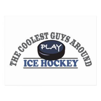 Coolstes Typ-Spiel-Eis-Hockey Postkarte