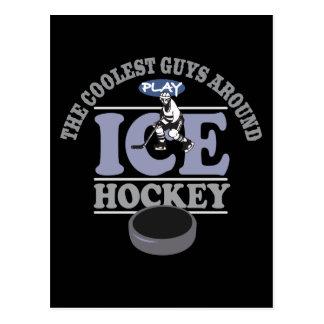 Coolstes Typ-Spiel-Hockey Postkarte