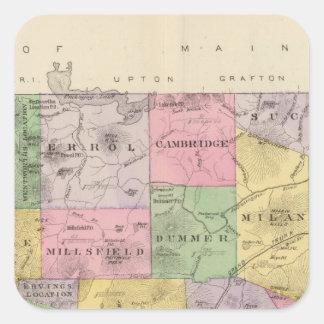 Coos County, NH Quadrat-Aufkleber