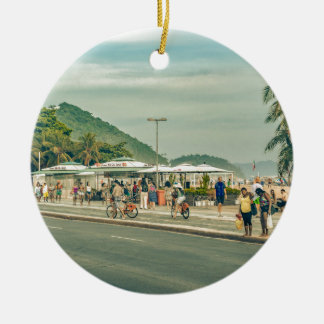 Copacabana Bürgersteig Rio de Janeiro Brasilien Keramik Ornament