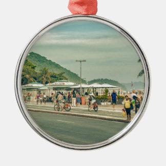 Copacabana Bürgersteig Rio de Janeiro Brasilien Silbernes Ornament