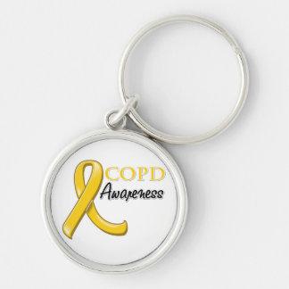 COPD Bewusstseins-Band (Goldband) Schlüsselband