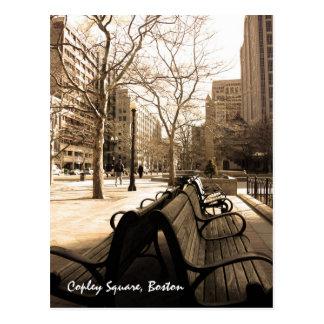 Copley quadratische Bänke Postkarte