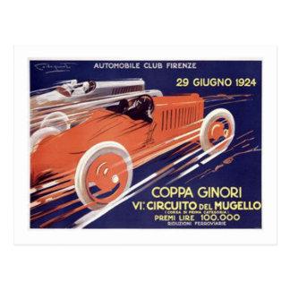 Coppa Ginori Auto-Verein Firenze Postkarte