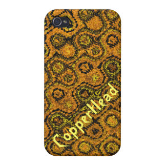 """""""Copperhead"""" abstraktes Muster iPhone 4 Case"""