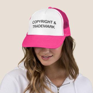 Copyright u. Warenzeichen-Fernlastfahrer-Hut Truckerkappe