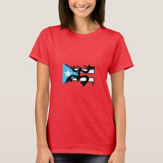 Coqui auf der Flagge von Puerto Rico T-Shirt