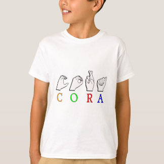 CORA FINGERSPELLED ASL NAMENSzeichen T-Shirt