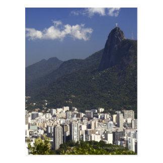 Corcovado, das Rio de Janeiro, Brasilien übersieht Postkarte